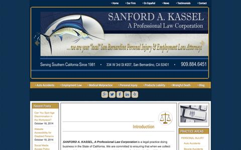 Screenshot of Privacy Page skassellaw.com - Privacy Policy | SANFORD A. KASSEL, A Professional Law Corporation - captured Nov. 2, 2014