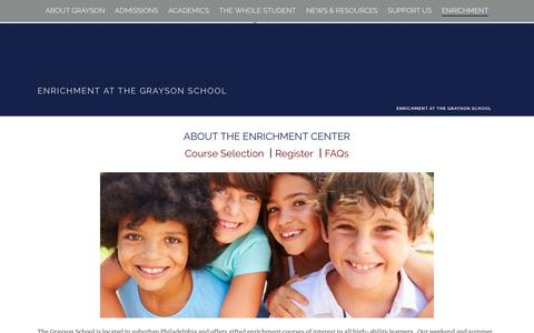 Screenshot of About Page thegraysonschool.org - The Enrichment Center | The Grayson School - captured Nov. 19, 2018