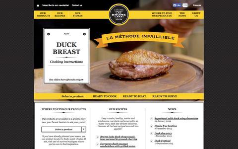 Screenshot of Press Page canardsdulacbrome.com - Canards du Lac Brome - captured Oct. 1, 2014