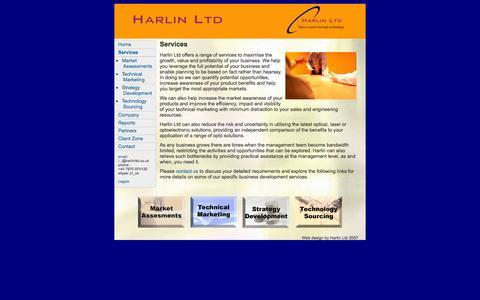 Screenshot of Services Page harlinltd.co.uk - Services | Harlin Ltd - captured Sept. 29, 2014