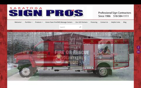 Screenshot of Home Page saratogasignpros.com - Saratoga Sign Pros – Commercial Sign Contractors since 1986     ~     518-584-1111 - captured Nov. 12, 2018