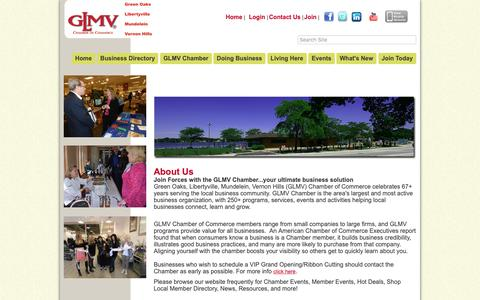 Screenshot of About Page glmvchamber.org - About Us - GLMV Chamber of Commerce, IL - captured Dec. 13, 2018