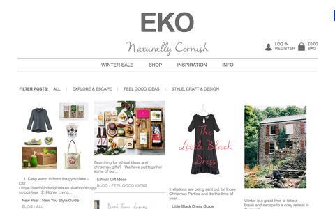 Screenshot of Blog earthkindoriginals.co.uk - Organic News on our clothing ranges and well beingEarth Kind Originals - captured Jan. 23, 2016
