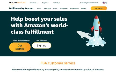 Screenshot of Support Page amazon.com - Amazon.com: Fulfillment by Amazon - Customer Service - captured Dec. 19, 2018