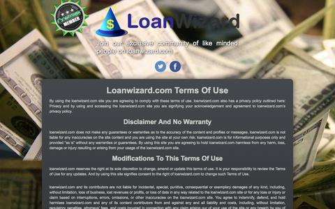 Screenshot of Terms Page loanwizard.com - Loanwizard.com - Terms of Use - captured Sept. 30, 2014