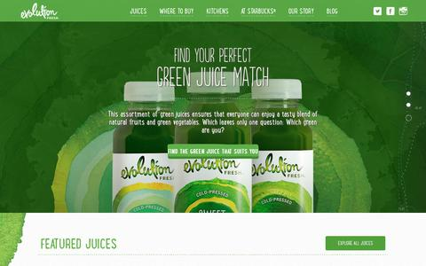 Screenshot of Home Page evolutionfresh.com - Evolution Fresh | Cold-Pressed Juice & Smoothies - captured Jan. 22, 2017