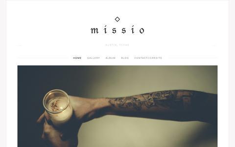 Screenshot of Home Page missiomusic.com - Missio - captured Jan. 26, 2015