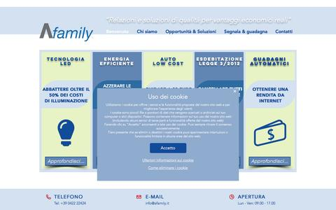 Screenshot of Home Page afamily.it - Afamily | Soluzioni di Qualità - captured May 29, 2017