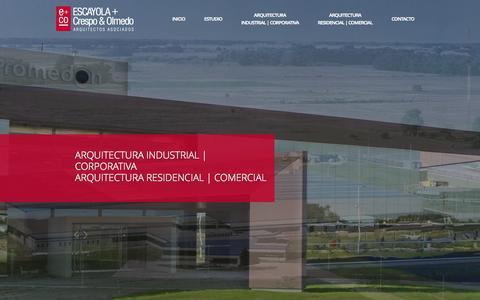 Screenshot of Home Page emasco.com.ar captured Oct. 1, 2014