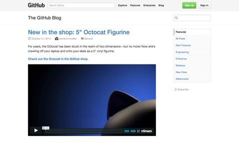Screenshot of Blog github.com - The GitHub Blog · GitHub - captured Oct. 22, 2014
