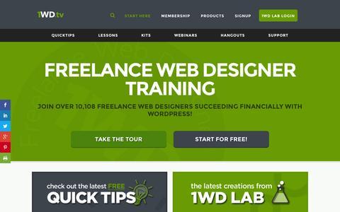Screenshot of Home Page 1wd.tv - Homepage - 1WD.tv - Freelance Web Designer Training - captured June 16, 2015