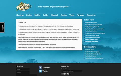 Screenshot of About Page perfectearthinternational.com - About us | Perfect Earth International BV - captured Sept. 17, 2014