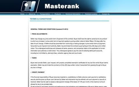 Screenshot of Terms Page masterank.com - contact us - captured Oct. 27, 2014