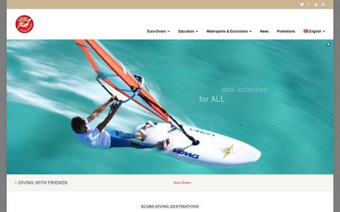 Screenshot of Home Page euro-divers.com - Scuba Diving Thailand Maldives Egypt Oman Japan Spain Croatia - captured Jan. 14, 2016