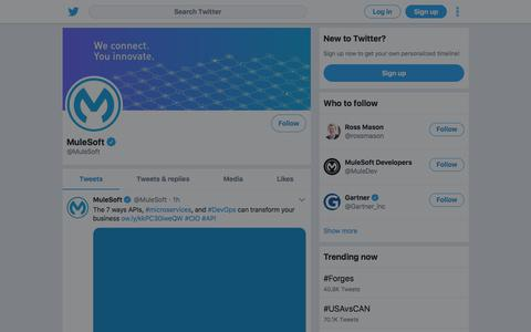 Tweets by MuleSoft (@MuleSoft) – Twitter