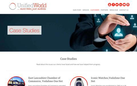 Screenshot of Case Studies Page unifiedworld.co.uk - Case Studies | Unified World Communications - captured Feb. 1, 2018