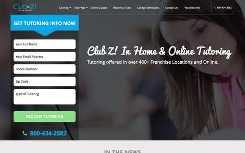 In Home Tutoring & Online Tutoring - Club Z! Tutoring