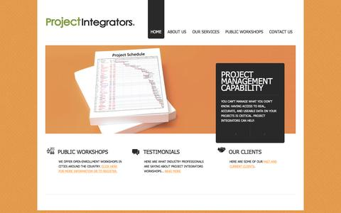 Screenshot of Home Page project-integrators.com - Project Integrators - captured Dec. 13, 2015