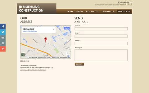 Screenshot of Privacy Page Contact Page jrmuehlingconstruction.com - Contact Us - captured Oct. 23, 2014