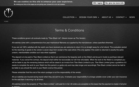 Screenshot of Terms Page titanblack.co.uk - Terms & Conditions | Titan Black - captured Sept. 21, 2018