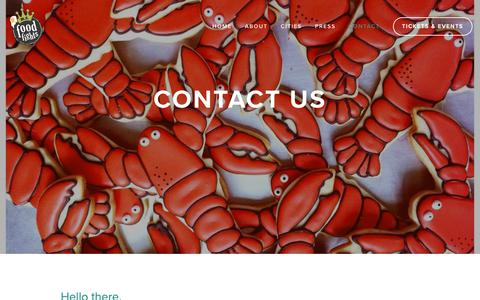 Screenshot of Contact Page rifoodfights.com - Contact — RI Food Fights - captured Oct. 19, 2018