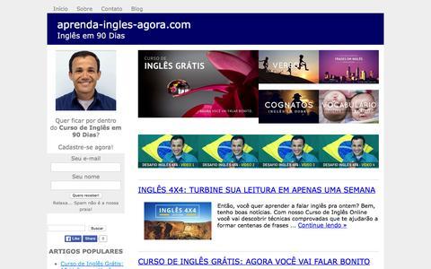 Screenshot of Blog aprenda-ingles-agora.com - Aprender Inglês em 90 Dias? Sim, Agora Você Pode! - captured March 14, 2016