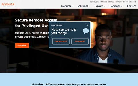Secure Remote Access Software for Privileged Users | BOMGAR