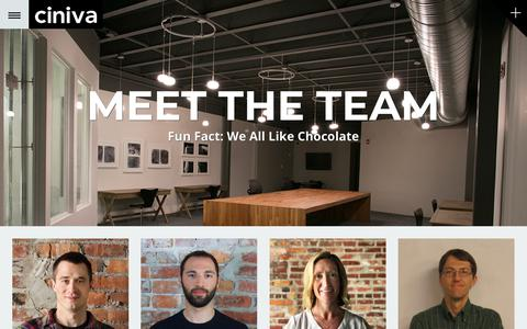 Screenshot of Team Page cinivawebagency.com - The Ciniva Agency | Virginia Beach Web Design & Marketing - captured July 18, 2018