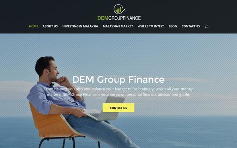 Screenshot of Home Page demgroup.org - DEM Group Finance – The best monetary guide in Malaysia - captured Nov. 24, 2016