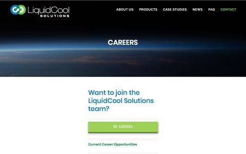 Screenshot of Jobs Page liquidcoolsolutions.com - Careers | LiquidCool Solutions - captured July 12, 2018