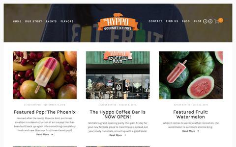 Screenshot of Blog thehyppo.com - Blog — The Hyppo - captured Oct. 18, 2018