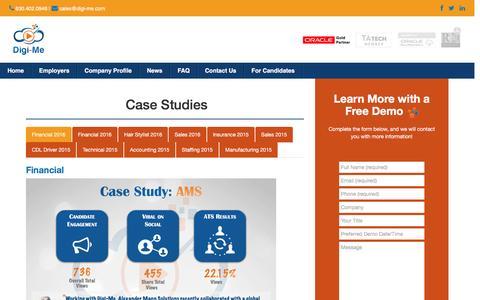 Screenshot of Case Studies Page digi-me.com - Case Studies – Digi-Me - captured Nov. 24, 2016