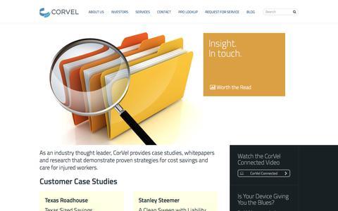 Screenshot of Case Studies Page corvel.com - Case Studies   CorVel - captured March 30, 2018