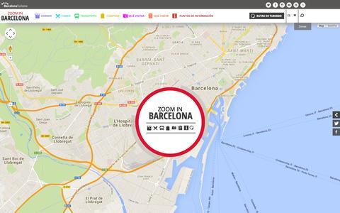 Screenshot of Home Page zoominbarcelona.com - Barcelona Mapa - Haz Zoom In en la ciudad de Barcelona - captured Jan. 26, 2015