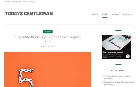 Screenshot of Blog todays-gentleman.com - Blog - The Gentleman for the new age - captured Oct. 19, 2018