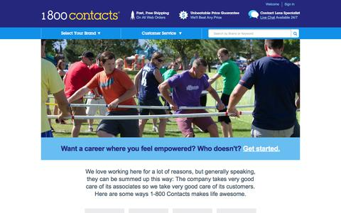 Screenshot of Jobs Page 1800contacts.com - Careers   1-800 Contacts - captured June 20, 2017