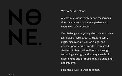 Studio None - Creative Digital Agency Brisbane