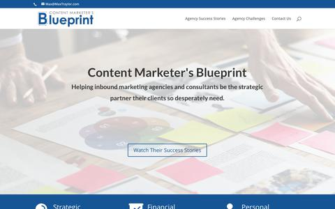 Content Marketers Blueprint Inbound Marketing Strategy
