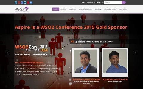 Screenshot of Press Page aspiresys.com - Aspire Systems - captured Oct. 22, 2015