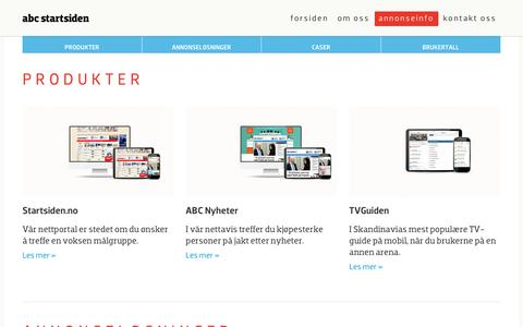 Annonseinfo | ABC Startsiden