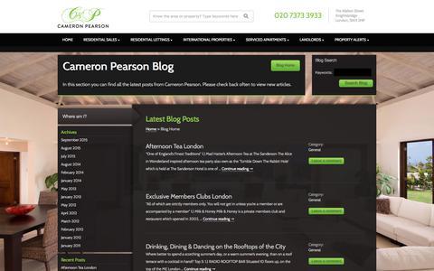 Screenshot of Blog cameronpearson.co.uk captured July 15, 2018