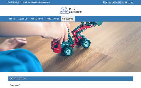 Screenshot of Contact Page origin-cleanroom.com - Contact Us   Origin Clean Room - captured Oct. 20, 2018