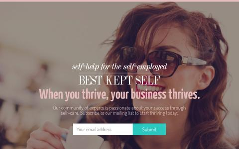Screenshot of Contact Page bestkeptself.com - Contact Best Kept Self - captured Oct. 14, 2015