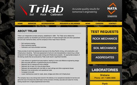 Screenshot of About Page trilab.com.au - Trilab - About Trilab - Trilab - captured Oct. 8, 2014