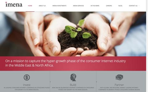 Screenshot of Home Page imena.com - iMENA - captured Sept. 22, 2014
