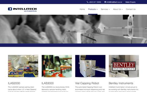 Screenshot of Products Page intellitech.co.nz - Intellitech Automation | Products - captured Feb. 11, 2016