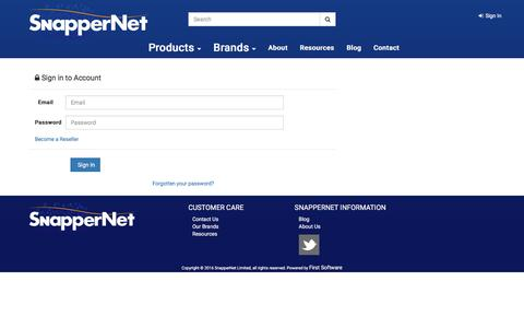 Screenshot of Login Page snappernet.co.nz - Distributor of Networking products including Routers, Switches, NAS and VoIP solutions - Snapper Network Distributors - captured Dec. 6, 2016