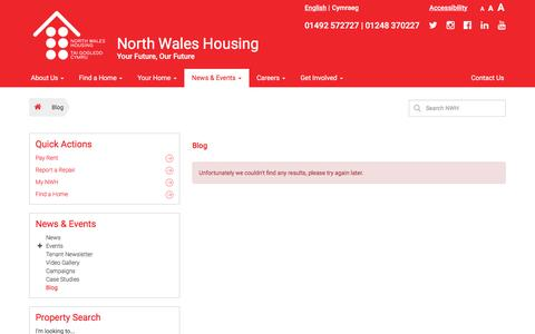 Screenshot of Blog nwha.org.uk - Blog – North Wales Housing - captured Dec. 3, 2016