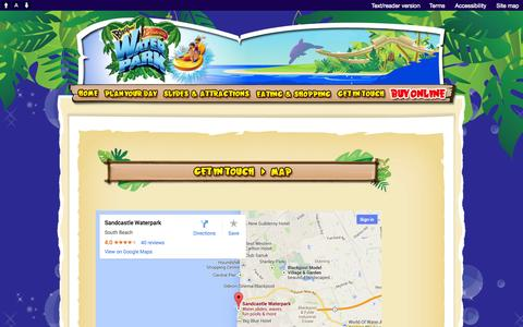 Screenshot of Maps & Directions Page sandcastle-waterpark.co.uk - Sandcastle Waterpark - Map - captured Sept. 30, 2014