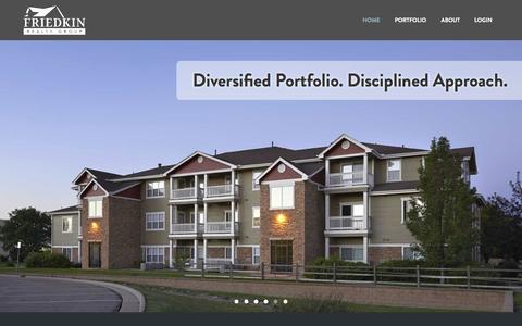 Screenshot of Home Page frgroup.com - Welcome to Friedkin Realty Group   Friedkin Realty Group - captured Nov. 25, 2016